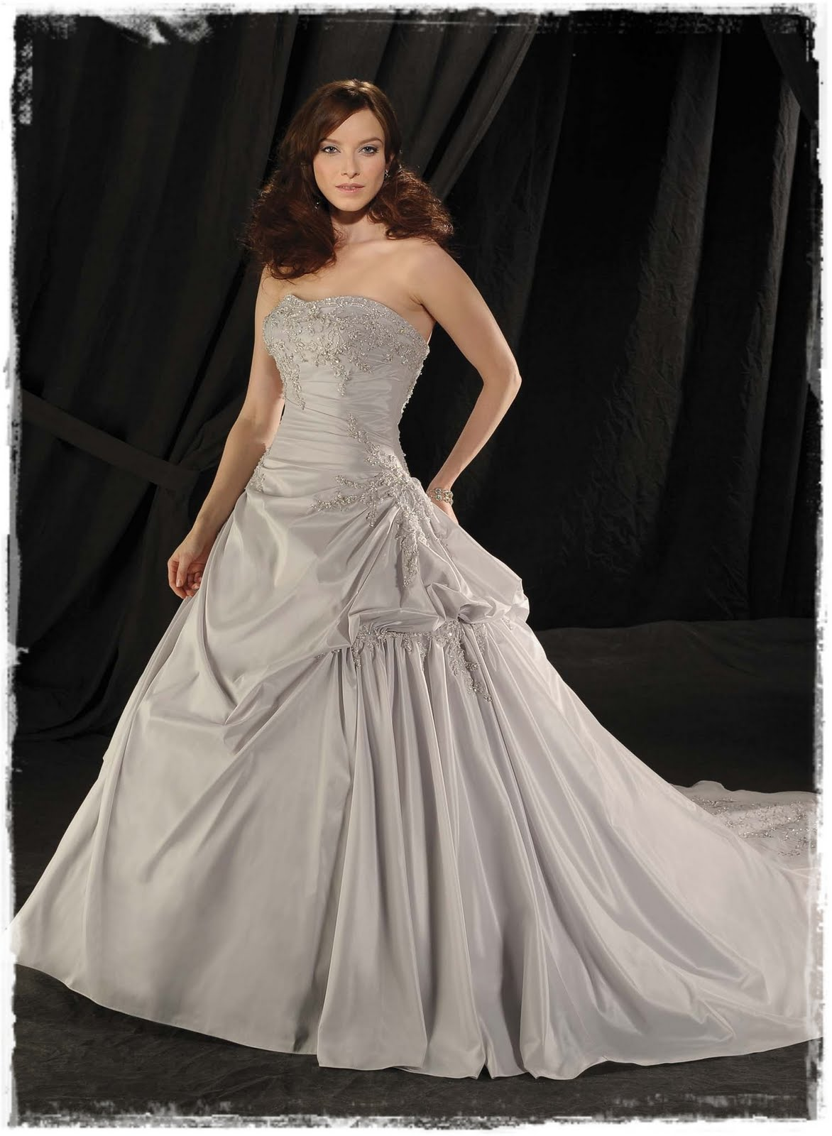 Blog Shimmering Silver Wedding Gowns