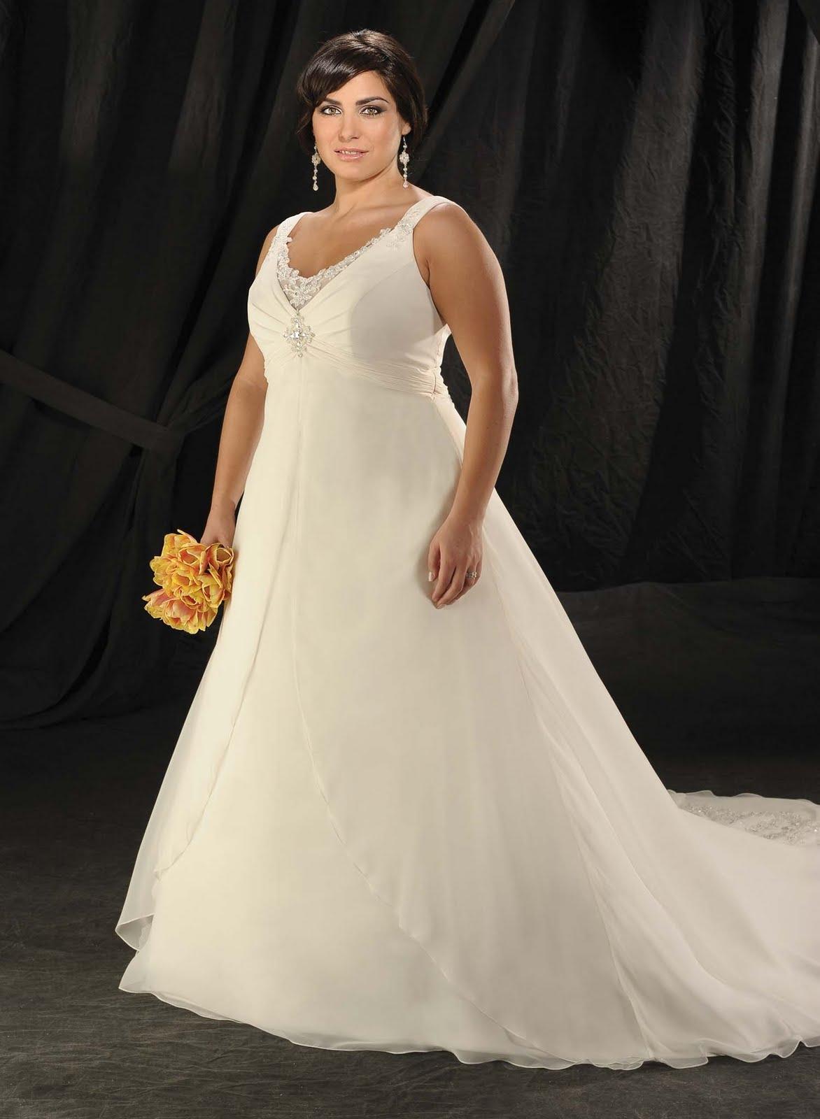 Allure Wedding Dress A Line Chiffon Plus Size