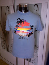 VINTAGE HAWAII GUAM USA IRON ON 100% VERY OLD COTTAN SHIRT (SOLD)