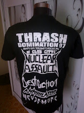 THRASH DOMINATION 07 THRASH METAL BAND SHIRT- NUCLEAR ASSAULT,DESTRUCTION,ANNIHILATOR,N NEVERMORE 2