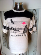 VINTAGE 1986 GATLINBURG 50/50 KAIN SAMBUNG SHIRT very rare design