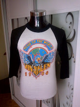 VINTAGE 1984 VAN HALEN 50/50 3 QUARTER SHIRT (SOLD)