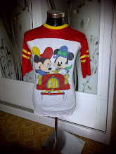 VINTAGE MICKEY MOUSE 50/50 KAIN SAMBUNG SHIRT (SOLD!!!!!)