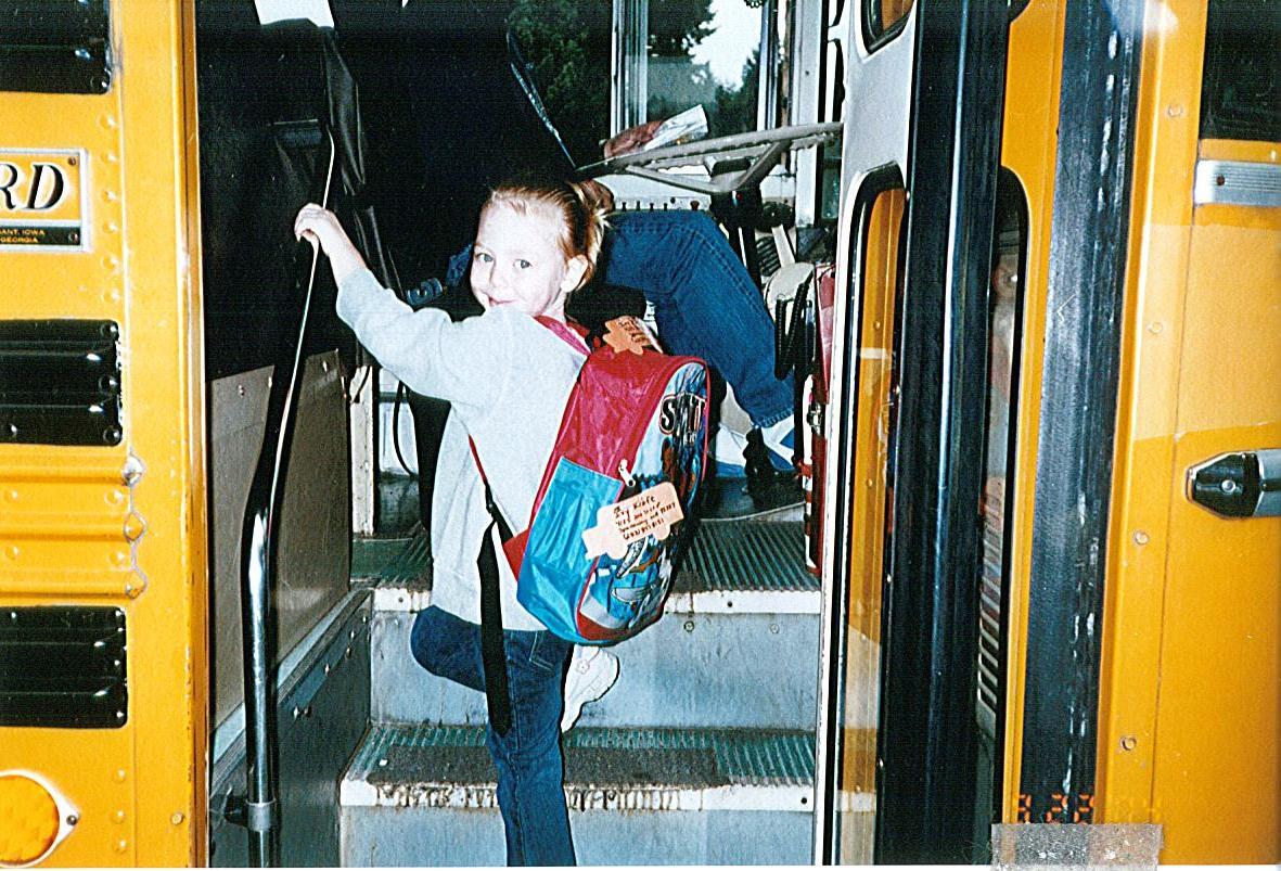 back side school bus