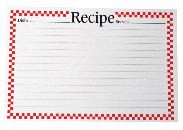 Tales of an Interior Stylist August 2010 – Sample Recipe Card