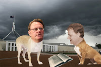 Costello and latham, dogs of democracy