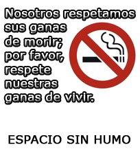 Espacio <b>sin</b> humo