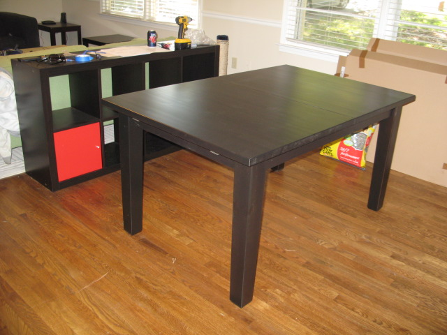 it 39 s not rocket science dining room table check. Black Bedroom Furniture Sets. Home Design Ideas