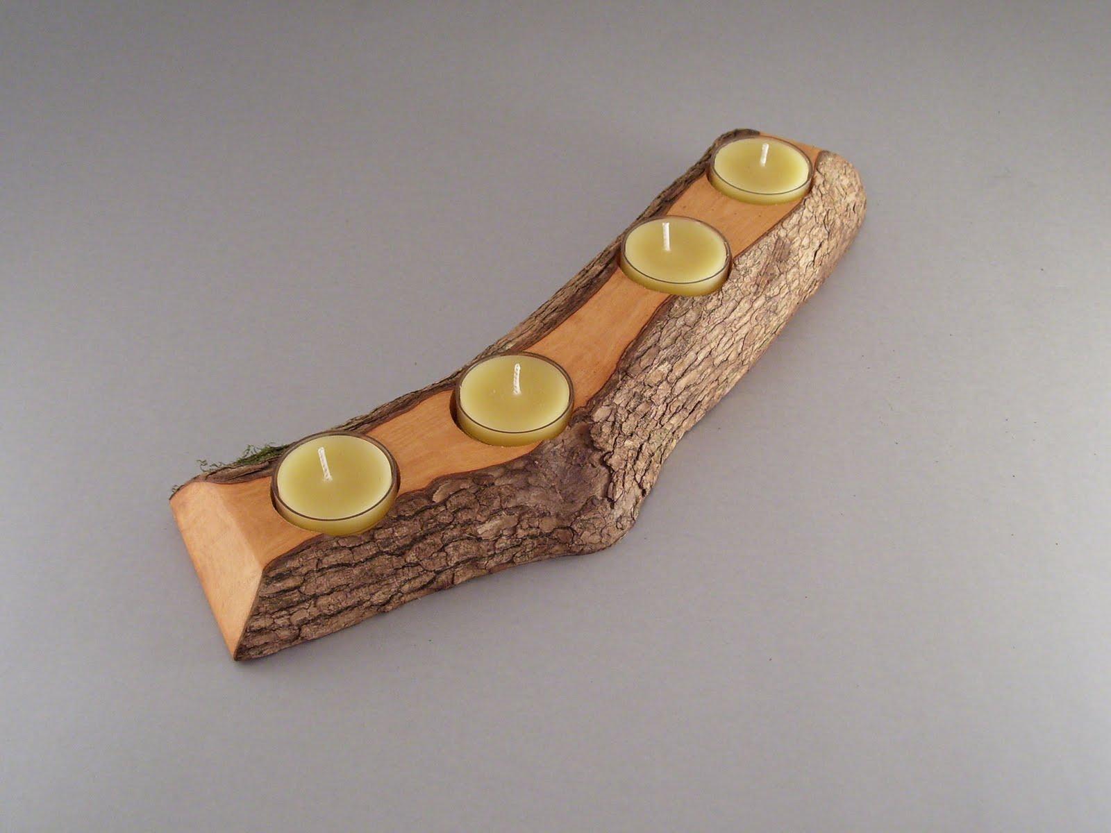 Bydan Woodworks Split Log Candle Holder Collection