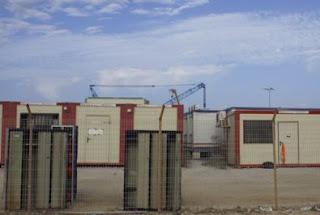 Instalaciones portuarias de Campamento después de la Adriatic LNG