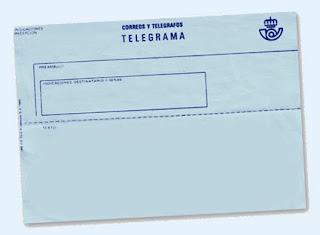 telegramas a Fomento