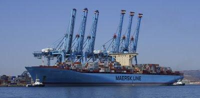Eleonora Maersk en el puerto de ALgeciras