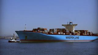 El volumen del tráfico portuario bajó un 2% en 2008