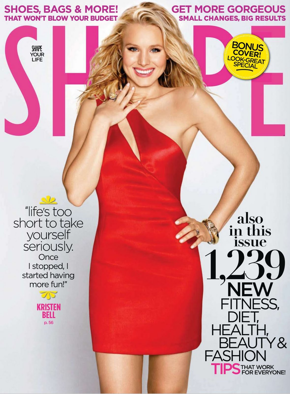 celebritybuzz us kristen bell uncovered body shape magazine hot cover. Black Bedroom Furniture Sets. Home Design Ideas