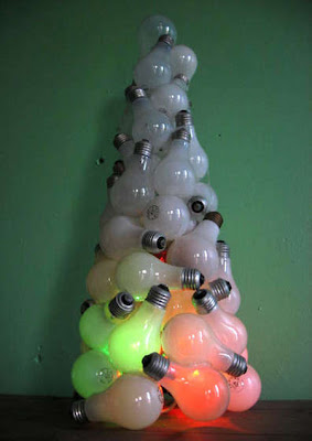 Light Bulb Christmas Tree