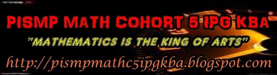 PISMP MATH COHORT 5 IPG KBA