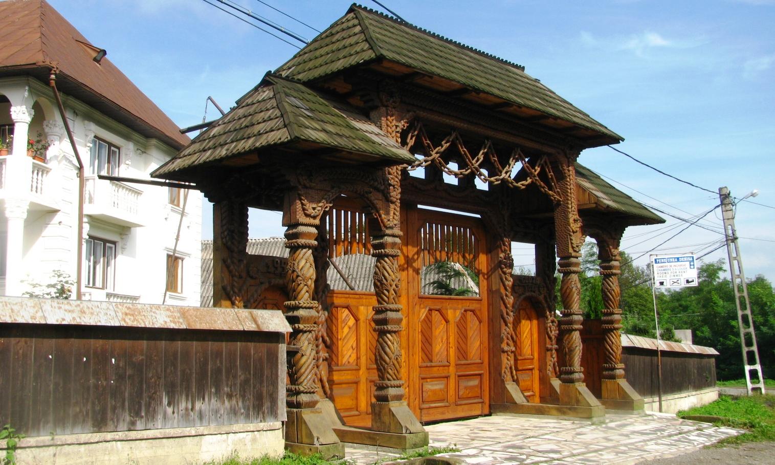 Romania A C Fotoblog Wooden Gate In Maramures