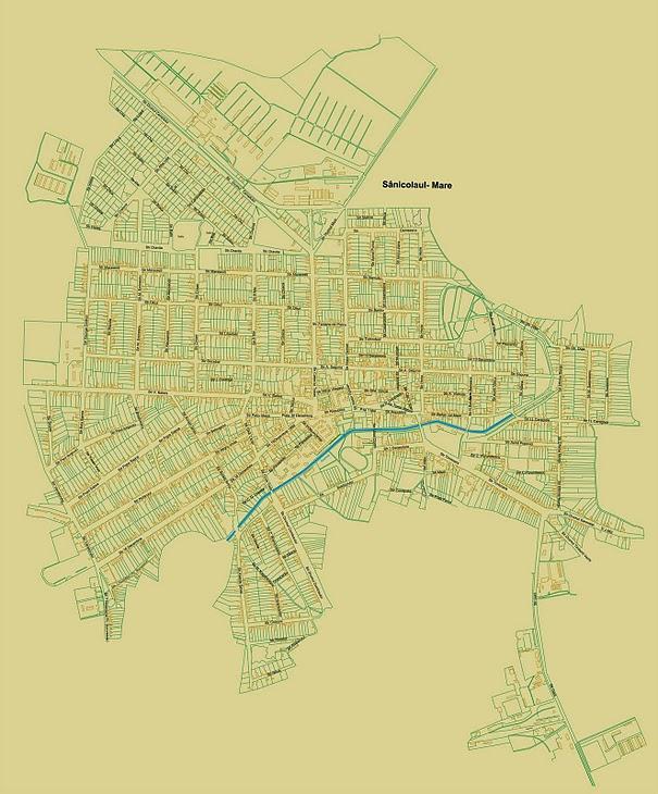 Harta orasului Sannicolau Mare