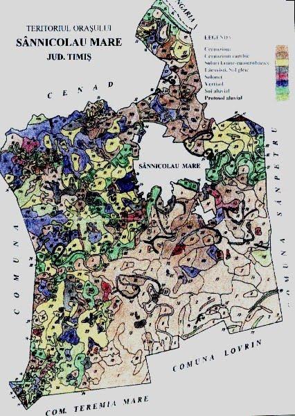 Harta cu terenurile agricole