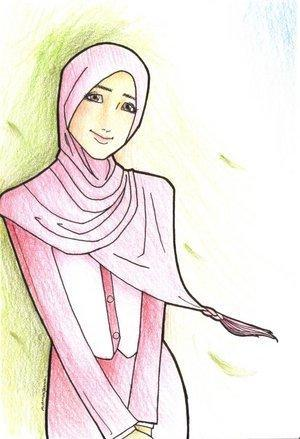 wallpaper muslimah kartun. hair wallpaper muslimah