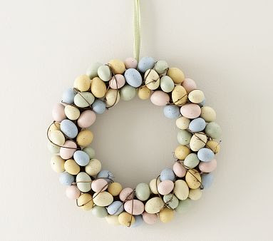 pottery barn kids easter egg wreath