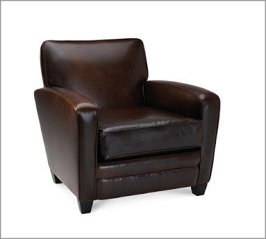 Bon Pottery Barn Addin Leather Armchair