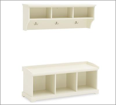 pottery barn samantha bench and shelf decor look alikes. Black Bedroom Furniture Sets. Home Design Ideas