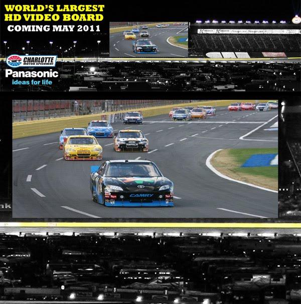 Charlotte Motor Speedway Videoboard