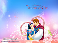 Snow White Valentine's Day Disney Prince Princess Wallpaper