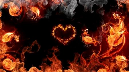 Burning heart animated wallpaper