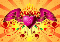 animated heart with wings wallpaper