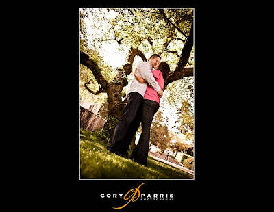 valentine couple kissing under the tree