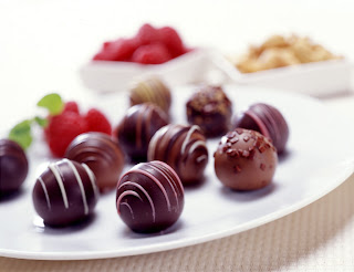 Chocolate balls valentine