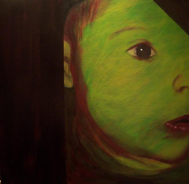 """Victor green  18""""x18""""  (Viva Vida gallery, Pointe-Claire)"""