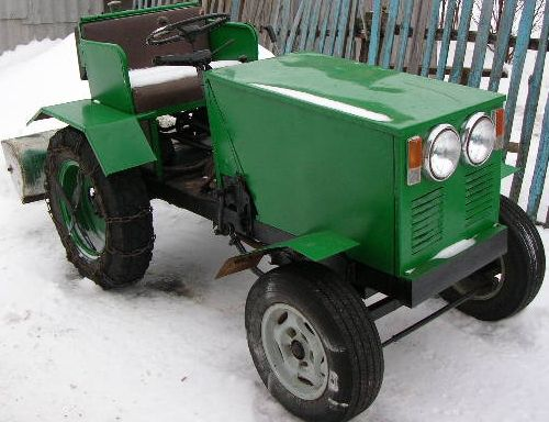 Самодельные мини трактора схемы и фото их конструкций - Для умельцев...