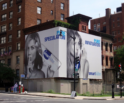 My favorite billboard at the moment is the Smartwater Jennifer Aniston
