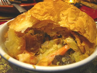 Recipes from 4EveryKitchen: Shrimp & Seasoned Sausage Pot Pie