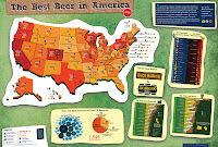 US beer map, by medals awarded