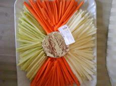 verduras con dip de chipotle