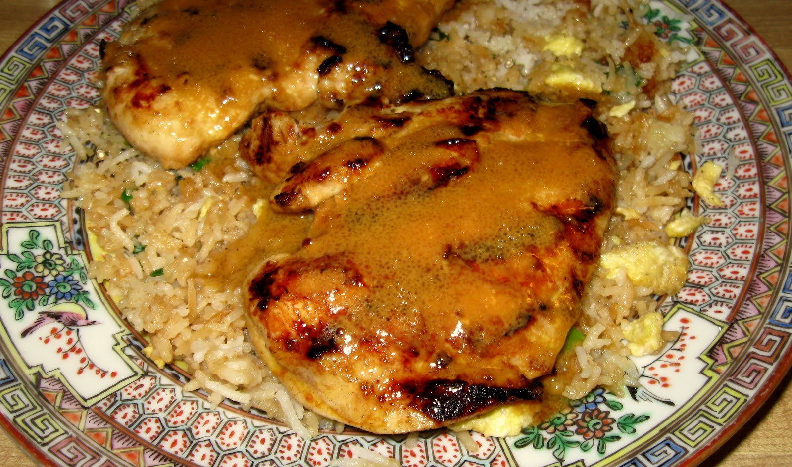Asian Grilled Chicken with Fried Rice ~ Sugar Pies