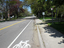 Sweet!  Brand New Bike Lanes - May 09