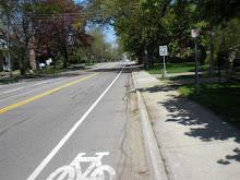 Sweet!  Brand New Bike Lanes - May 09