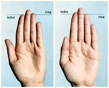 Dedos iguais são sinal de pénis grande