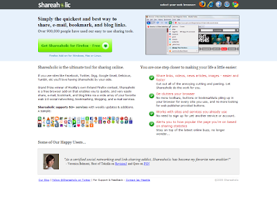 Shareaholic manage all your sharing from one place