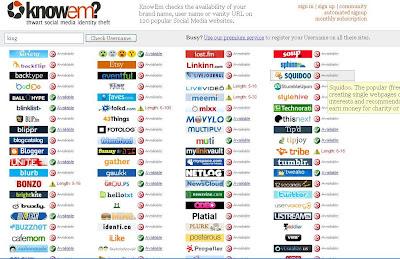 KnowEm.com Screenshot