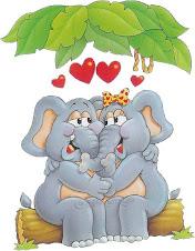 Elefantinhos...namorando..