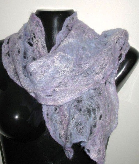 Silk Scarves Gumtree: KIRTON KREATIONS: Shades Of Lavender