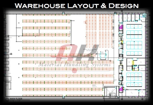 How cad layout redesign helped maximize a warehouse for Warehouse plans designs