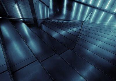 Pormenor das escadas de decida