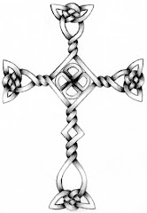 """Celtic Cross Sketch"" by Kelly Lewis"